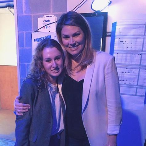 Kate with Broadway's Heidi Blickenstaff