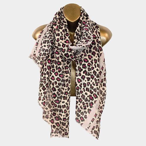 Ally Lightweight Cheetah Print Scarf