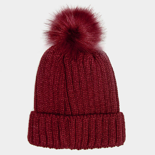 Chloe Puff Hat Burgundy