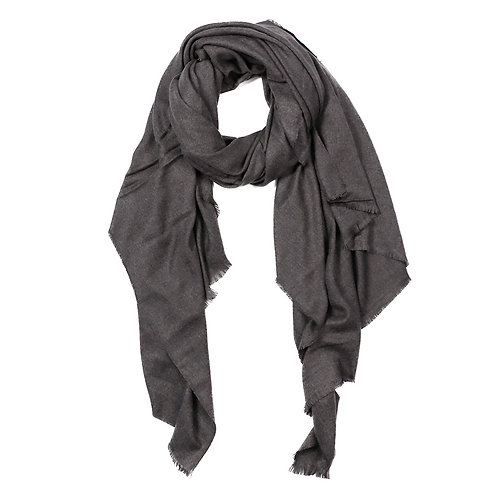 Sam Oversized Scarf Charcoal/Black