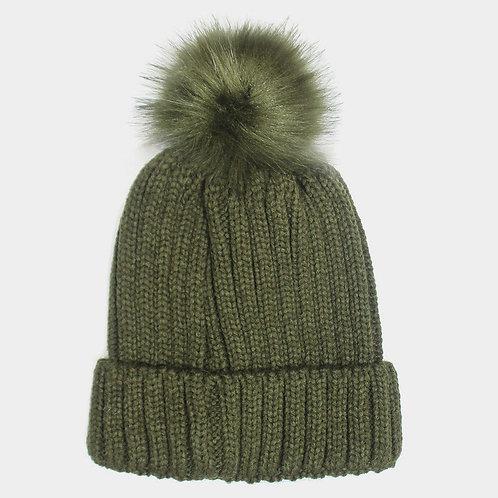 Chloe Puff Hat Olive