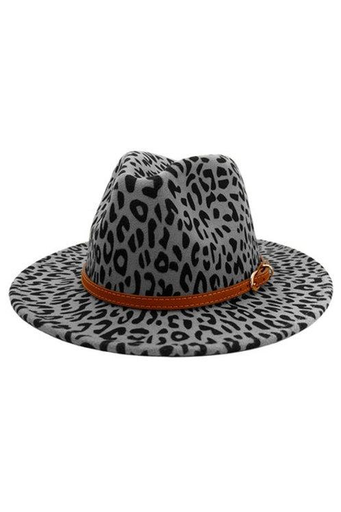 Blake Belted Panama Hat Grey