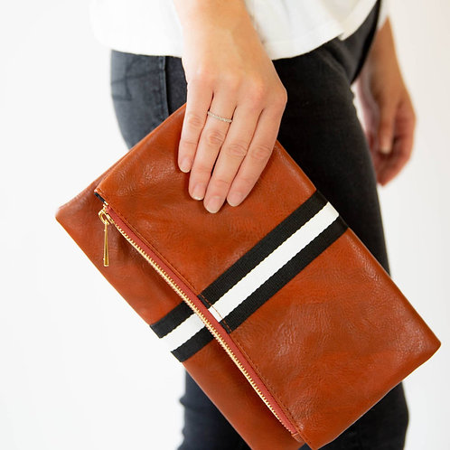 Lula Faux Leather Clutch