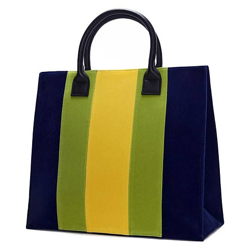 Velvet Nitro Apple Blue Stripe Tote (Pre-Orders)