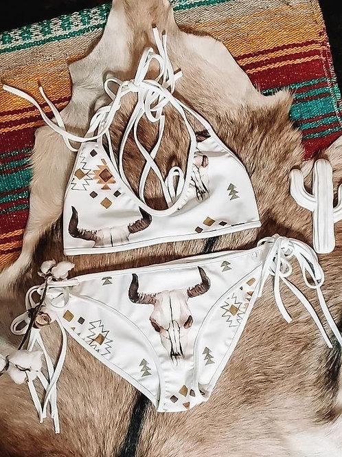 Aztec Skull Swimsuit