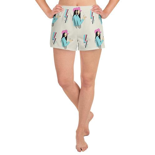 Lightning Cowgirl Athletic Shorts