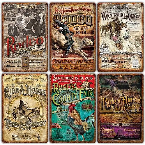 Vintage Western Metal Signs