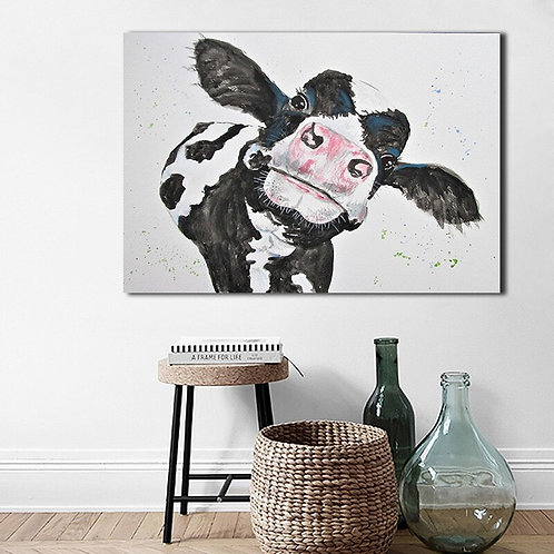 Modern Farm Cow Animal Canvas Painting