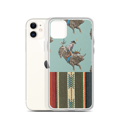 Serape Bull Rider iPhone Case