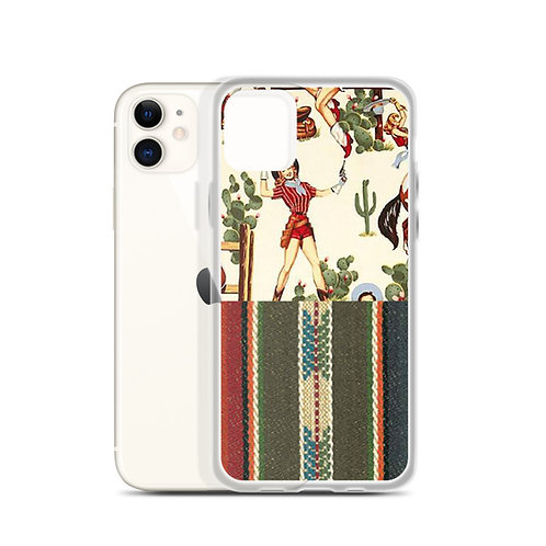 Vintage Cowgirl Serape iPhone Case