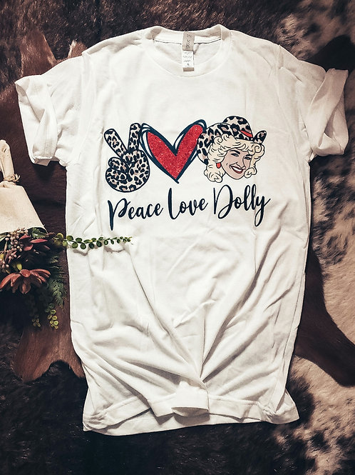 Peace, Love, Dolly Ultra Soft Tee
