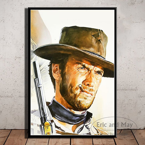 Clint Eastwood a Fistful of Dollars Movie Canvas