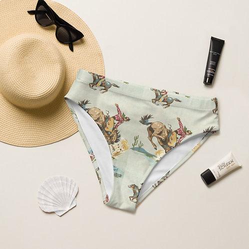 Retro Cowboy  high-waisted bikini bottom