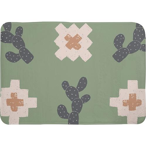 Southwest Cactus Memory Foam Bath Mat