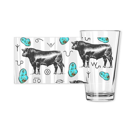 Turquoise n Angus Drinking Glasses