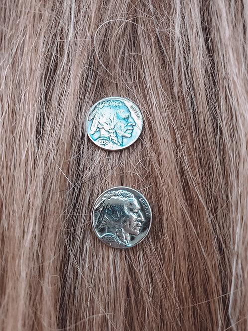 Indian Head Nickel Earrings Navajo Post Studs