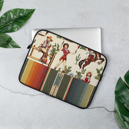 Vintage Cowgirl Serape Laptop Sleeve