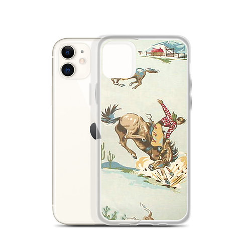 Vintage Bronc iPhone Case
