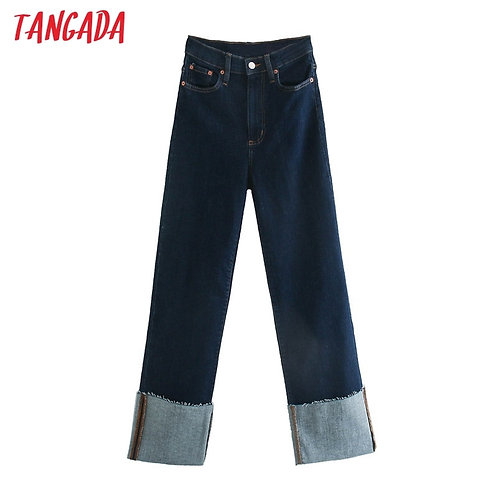 Cuffed Wide Leg Trouser Jean