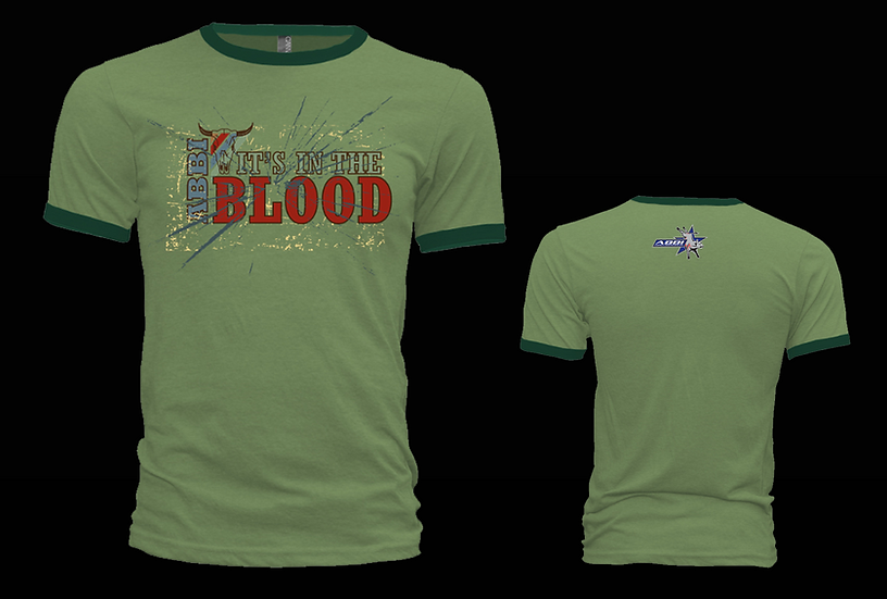 In the Blood Green Ringer T-Shirt
