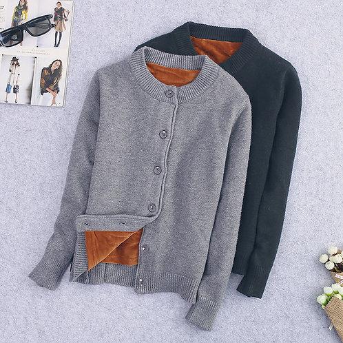 Autumn  Velvet Sweater Coat