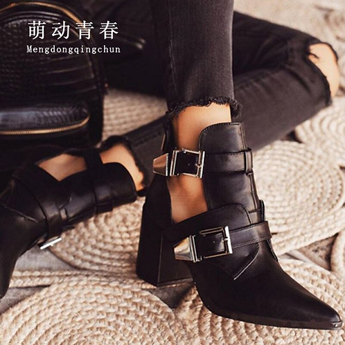 The Stevie Strap Bootie