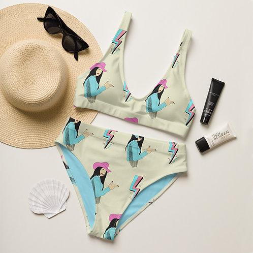 Lightning Cowgirl high-waisted bikini