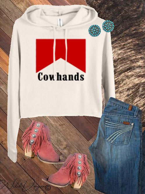 Cowhands Crop Hoodie