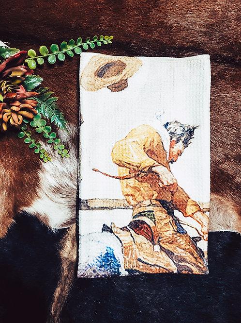 Wild West Cowboy Dish Towel