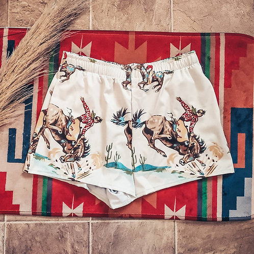 Retro Cowboy Women's Athletic Shorts