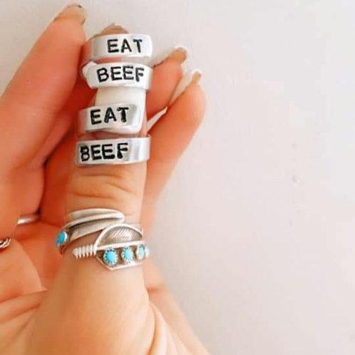 Eat Beef Wrap Ring