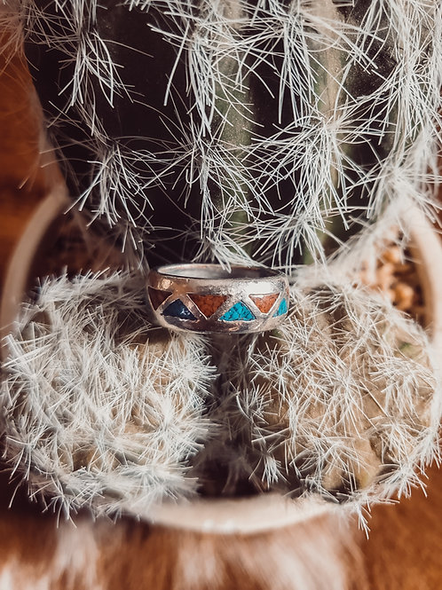 Authentic Turquoise Inlay Ring