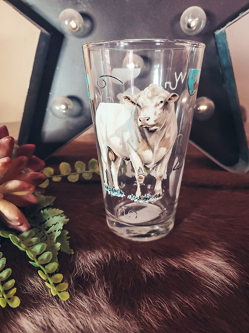 Turquoise n Charolais Drinking Glasses