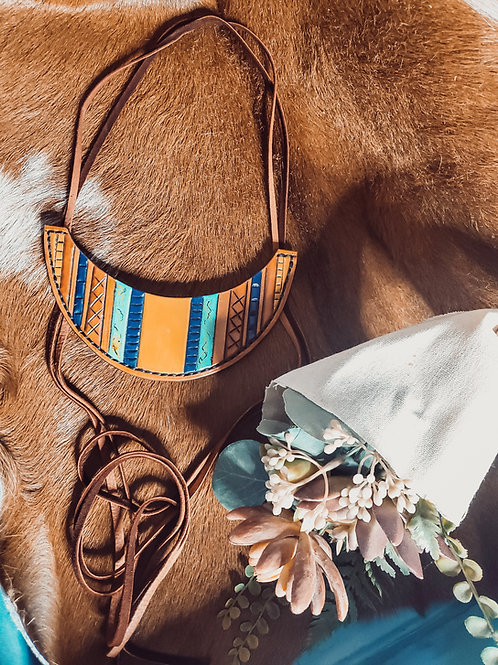 Leather Collar Adjustable Necklace