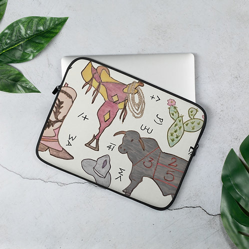 Hand Drawn Western Laptop Sleeve