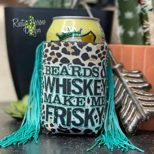 Beards & Whiskey Koozie