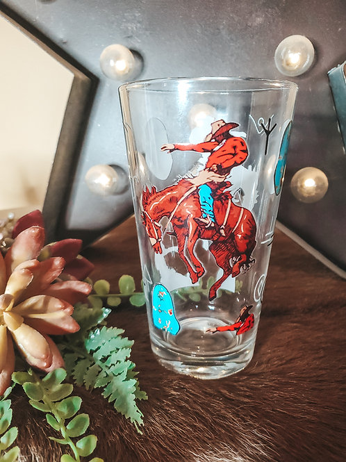 Turquoise n Bronc Drinking Glasses