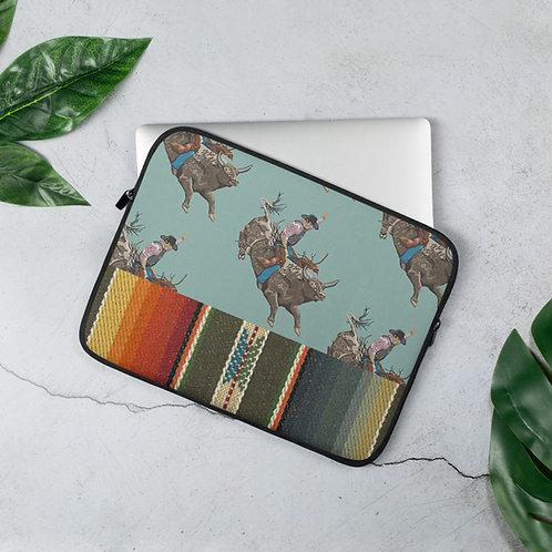 Bull Rider Serape Laptop Sleeve