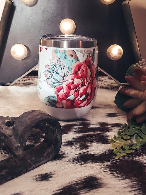 Cactus Flower Wine Tumbler