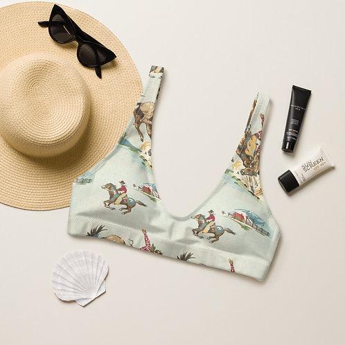 Retro Cowboy padded bikini top