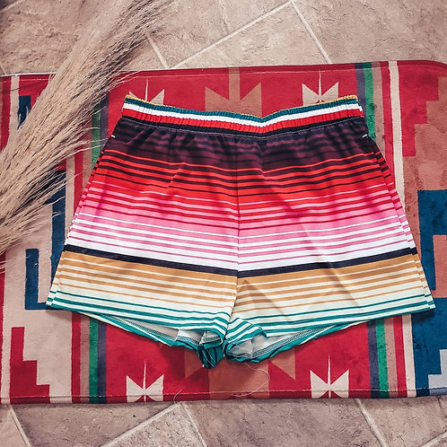 Serape Women's Athletic Shorts
