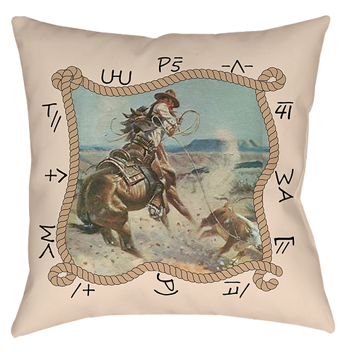 Cattle Country Throw Pillow