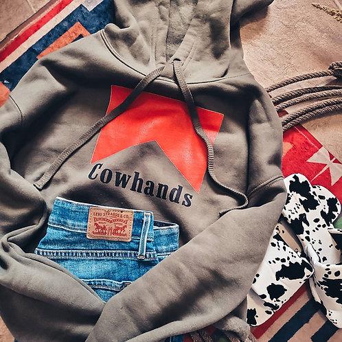 Cowhands Crop Hoodie (Dark)