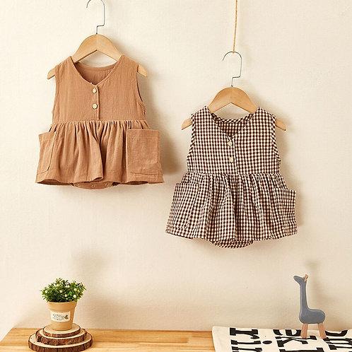 Baby Summer Plaid Bodysuit