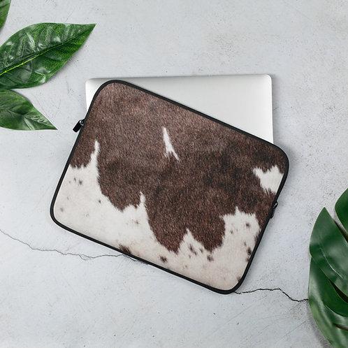 Cow Print Laptop Sleeve