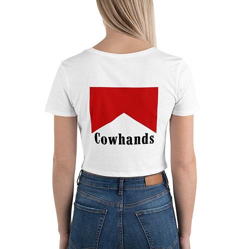 Cowhands Women's Crop Tee