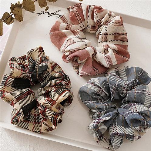 Autumn Plaid Scrunchies