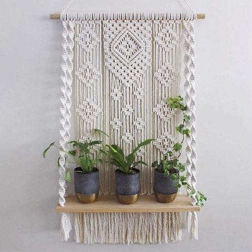 MacKrame Plant Shelf