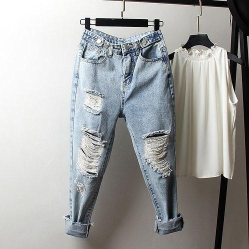 Vintage Boyfriend Ripped Jeans