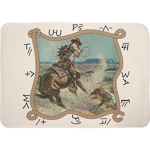 Cattle Country Memory Foam Bath Mat